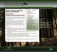 CrookedBush.com - 2013 Template Redesign