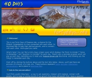 40 Days of Purpose Web Site