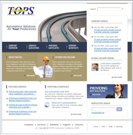 Web Development - TOPS Conveyor